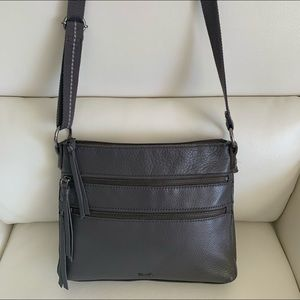 The Sak Reseda Leather Crossbody Bag In Grey
